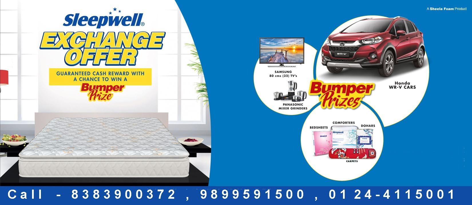 Sleepwell Kwality Mattresses Sleepwell Mattress Exchange Offer In Gurgaon And Delhi